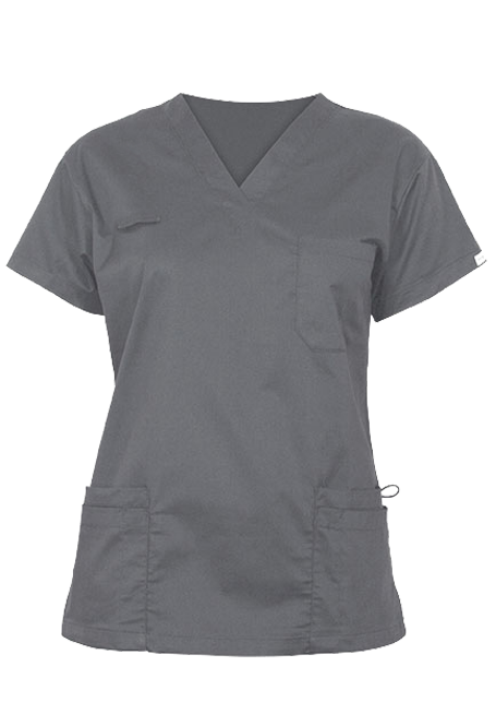 Elitecare Classic gray shirt nurse uniform