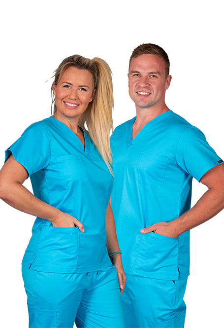 Elitecare Classic blue shirt nurse uniform